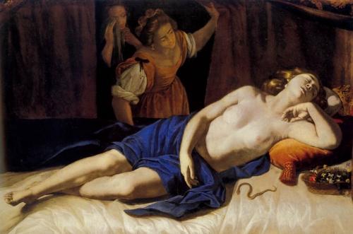 Artemisia Gentileschi, Cleopatra, 1635